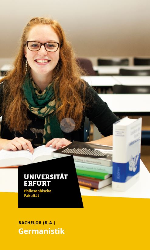 Uni Erfurt Corporate Design – Flyer Germanistik, Quelle: Uni Erfurt