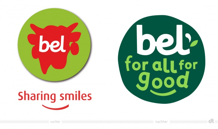 Bel Group Logo – vorher und nachher