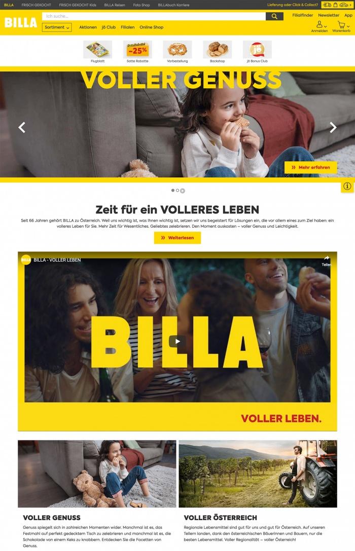 Billa Website