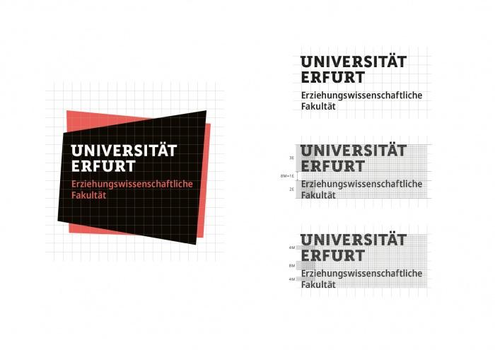 Uni Erfurt Corporate Design – Vermaßung, Quelle: Uni Erfurt