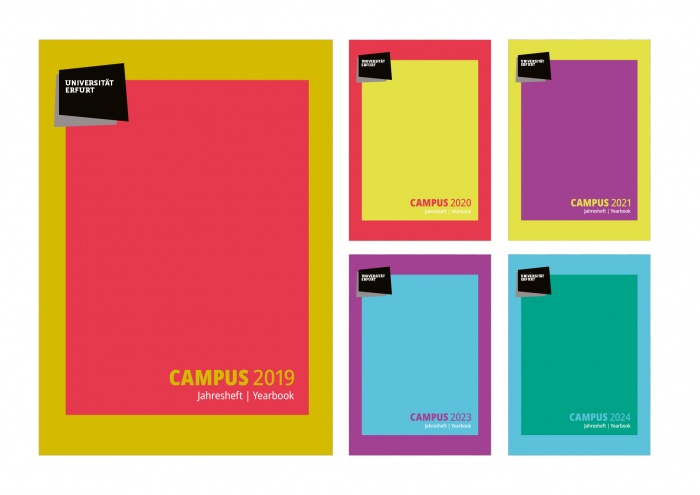 Uni Erfurt Corporate Design – Campusheft, Quelle: Uni Erfurt