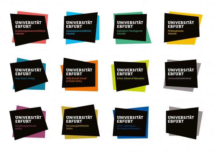 Uni Erfurt Corporate Design – Wort-Bild-Marken, Quelle: Uni Erfurt