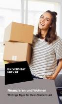 Uni Erfurt Corporate Design – Flyer Wohnen, Quelle: Uni Erfurt
