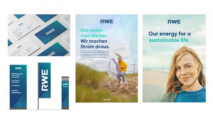 RWE – neuer Markenauftritt/Brand Design (2019), Quelle: RWE