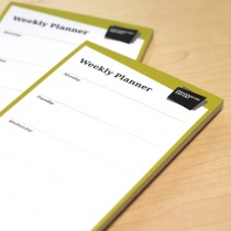 Uni Erfurt Corporate Design – Weekly Planner, Quelle: Uni Erfurt