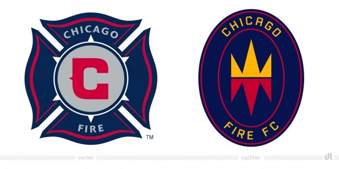 Chicago Fire FC Logo – vorher und nachher