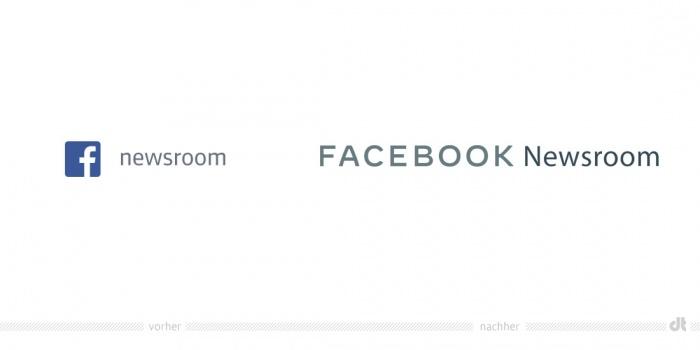 Facebook News Logo – vorher und nachher