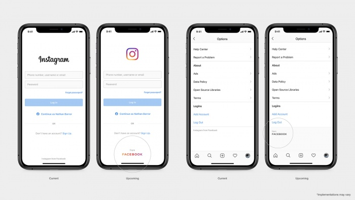 IG Product Screen, Quelle: Facebook