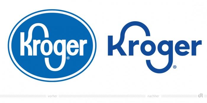 Kroger Logo – vorher und nachher