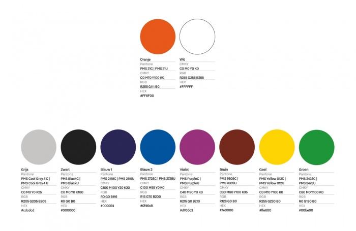 Netherlands Nation Brand Logo Colors, Quelle: Regierung der Niederlande