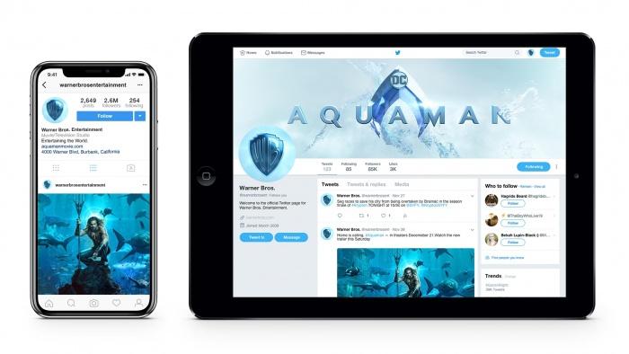 Warner Bros. Branding – Social Media, Quelle: Pentagram