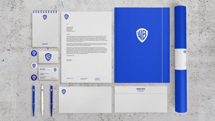 Warner Bros. Branding – Stationery, Quelle: Pentagram