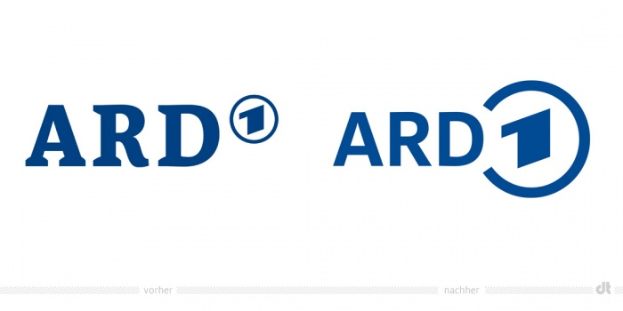 ARD Logo – vorher und nachher