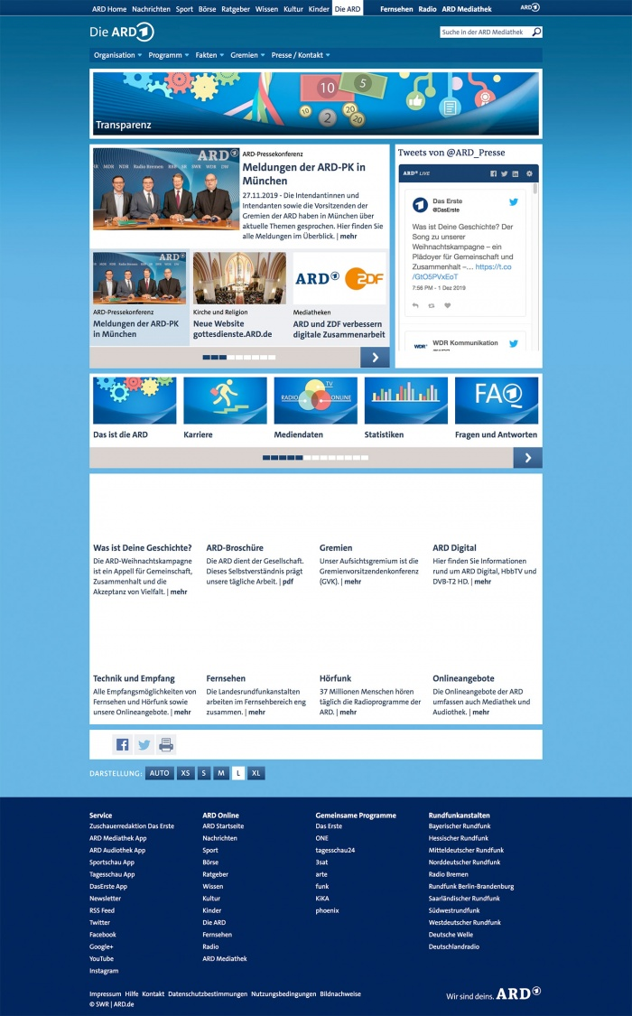 ARD Presse-Website