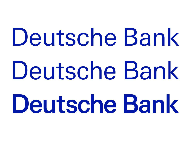 """Veränderung, die der """"Deutsche Bank""""-Schriftzug in den letzten beiden Jahren vollzogen hat"""