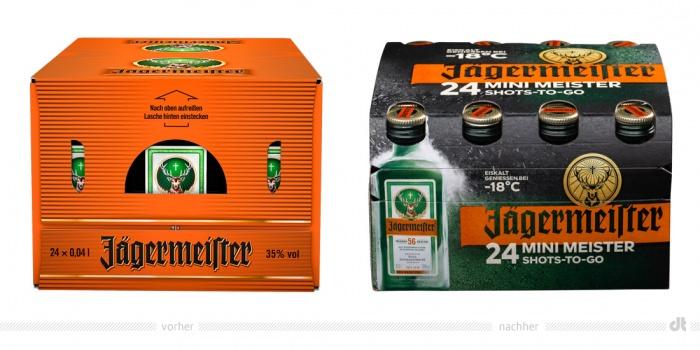 Jägermeister Package 24 x – vorher und nachher