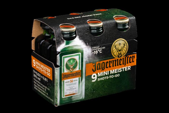 Jägermeister Packaging 9x0,02l Right