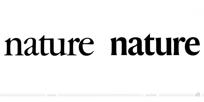 Nature Logotype – vorher und nachher