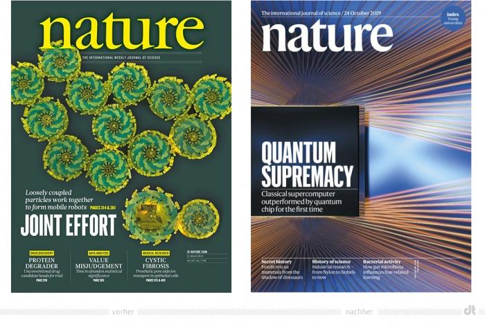 Nature Magazin Cover – vorher und nachher