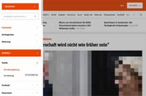 Der Spiegel – Hauptnavigation