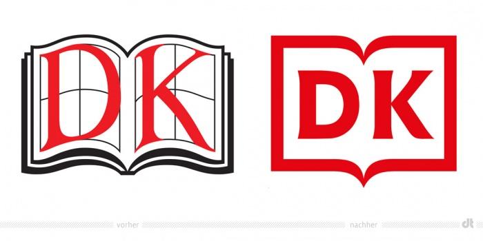 Dorling Kindersley Logo – vorher und nachher