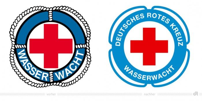 DRK Wasserwacht Logo – vorher und nachher