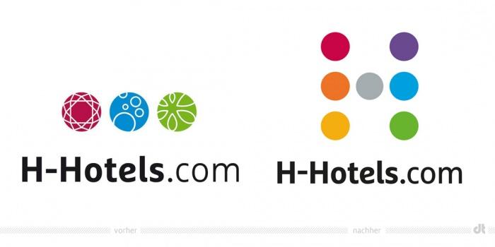 H-Hotels.com Logo – vorher und nachher