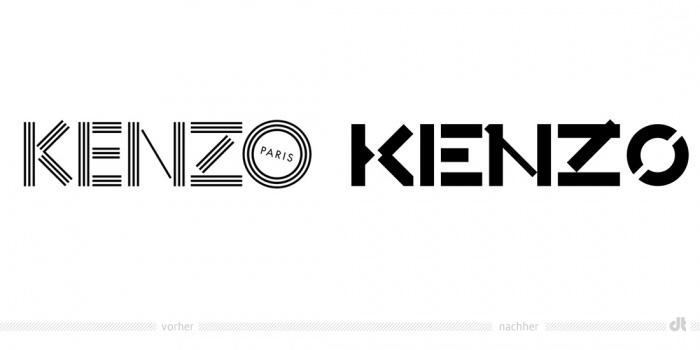 KENZO Logo – vorher und nachher
