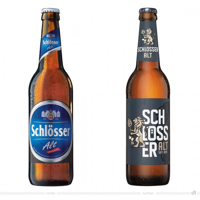 Schlösser Alt Flasche 0,5l – vorher und nachher