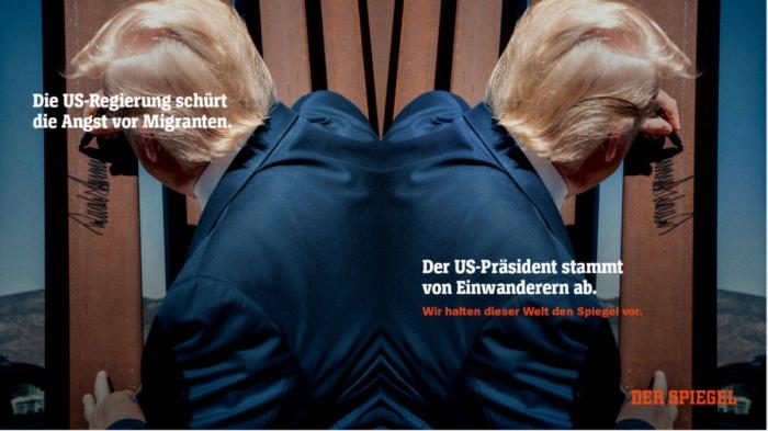 """DER SPIEGEL neuer Claim """"Wir halten dieser Welt den Spiegel vor"""", Quelle: DER SPIEGEL"""