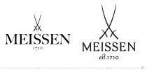 Staatliche Porzellan-Manufaktur Meissen Logo – vorher und nachher