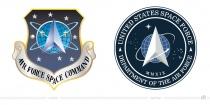 United States Space Force Logo – vorher und nachher