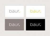 Baur Logo (2020) Varianten, Quelle: Baur