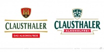 Clausthaler Redesign Logo – vorher und nachher