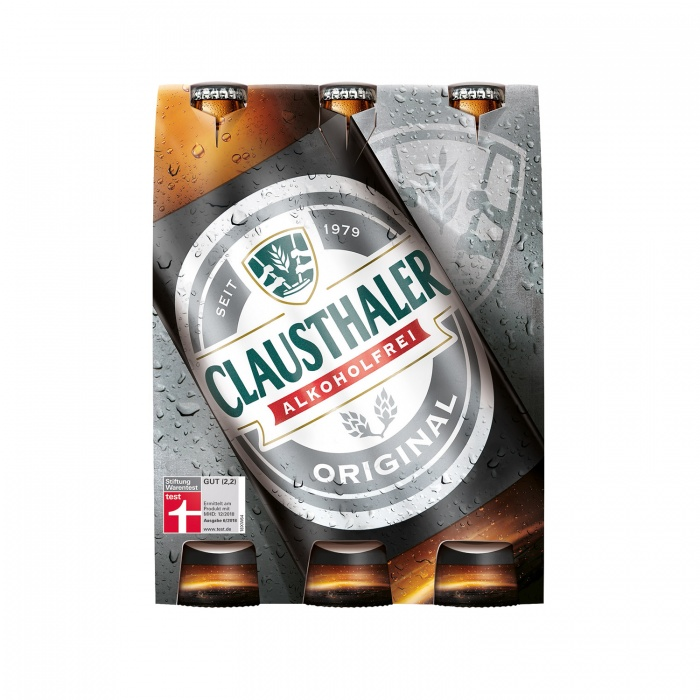 Clausthaler Cluster 6 x 033l Original, Quelle: Radeberger Gruppe