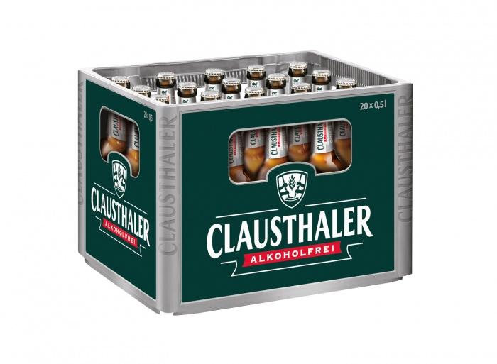 Clausthaler Kasten 20 x 0,5l Original, Quelle: Radeberger Gruppe