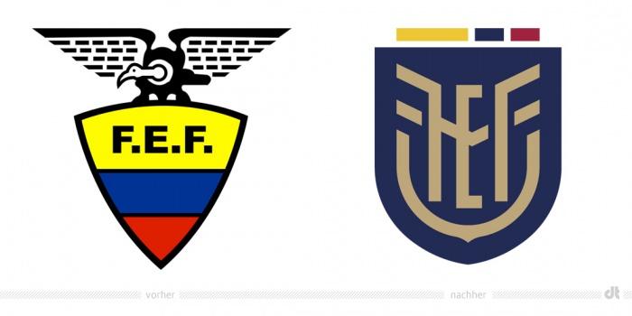Federación Ecuatoriana de Fútbol Logo – vorher und nachher