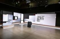 """""""Kontraste"""" 2020 in neuem Studio mit neuem Design, Quelle: rbb, Foto: Claudius Pflug"""