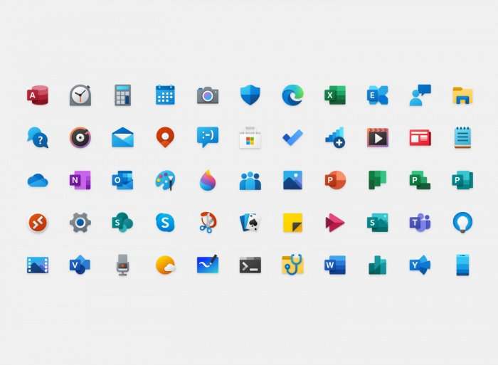 Windows 10 Icons, Quelle: Medium/Microsoft