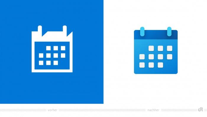 Windows Calendar Icon – vorher und nachher