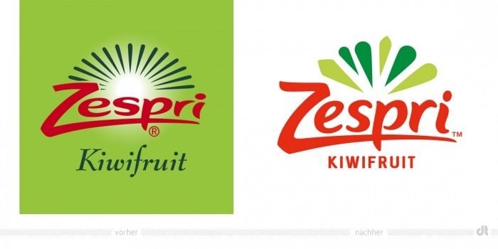 Zespri Logo – vorher und nachher
