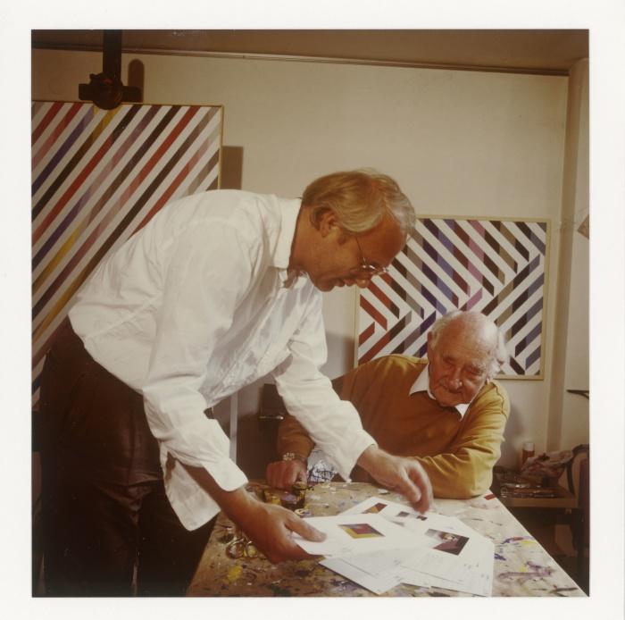 Karl Duschek und Anton Stankowski, 1991, © Meike Gatermann und Stankowski-Stiftung / Staatliche Museen zu Berlin, Kunstbibliothek, Nachlass Stankowski + Duschek