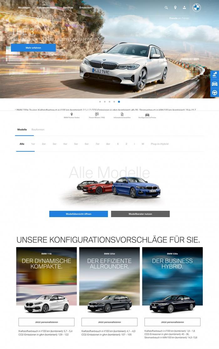 Bmw Website 03 2020 Design Tagebuch