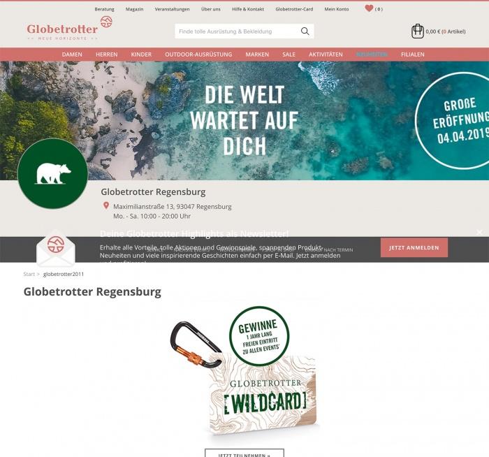 Globetrotter Filiale Regensburg