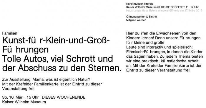 Kunstmuseen Krefeld – Website Darstellungsprobleme (unter Firefox/Mac)
