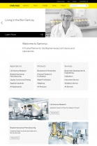 Sartorius Website