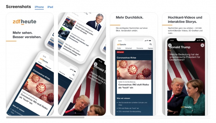 ZDFheute App iOS