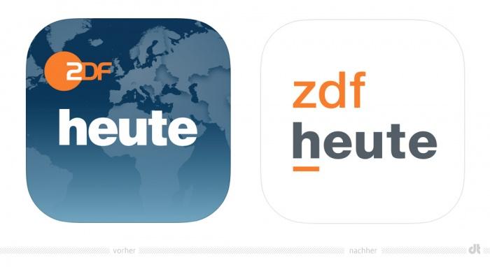 ZDFheute App-Symbol – vorher und nachher