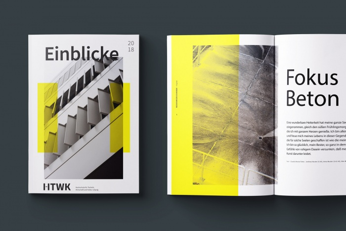 HTWK Corporate Design – Broschüre, Quelle: Wenke & Rottke