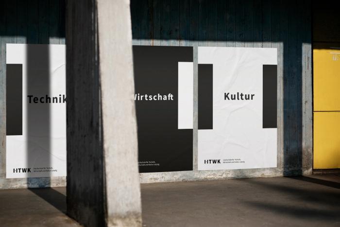 HTWK Corporate Design – Poster, Quelle: Wenke & Rottke